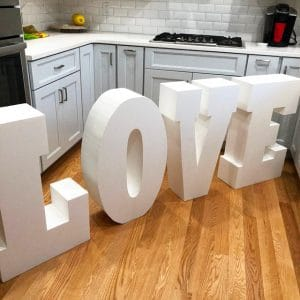 Lettres polystyrène