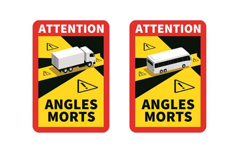 Signalisation des angles morts des véhicules lourds